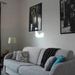 Salotto dell'appartamento con divano letto