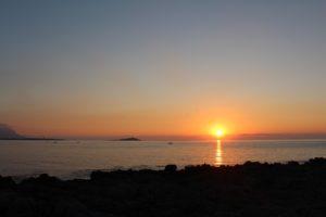 Il sole tramonta serenamente su Sferracavallo
